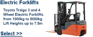 Select Toyota Electric Forklifts